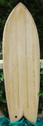 "Wood Surfboard Kit - 6'0"" MidFish"