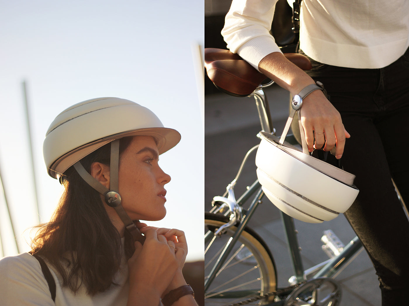 Closca creates accessories for folding Fuga helmet to shield cyclists from the cold and dark (DEZEEN)
