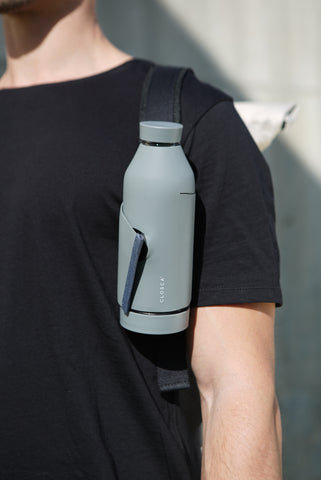 Closca Bottle latches onto your backpack