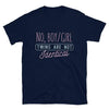 No, Boy/Girl Twins Are Not Identical (Navy Shirt)