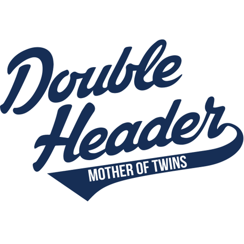 Double Header - Mother of Twins Long Sleeve Baseball Jersey T-Shirt
