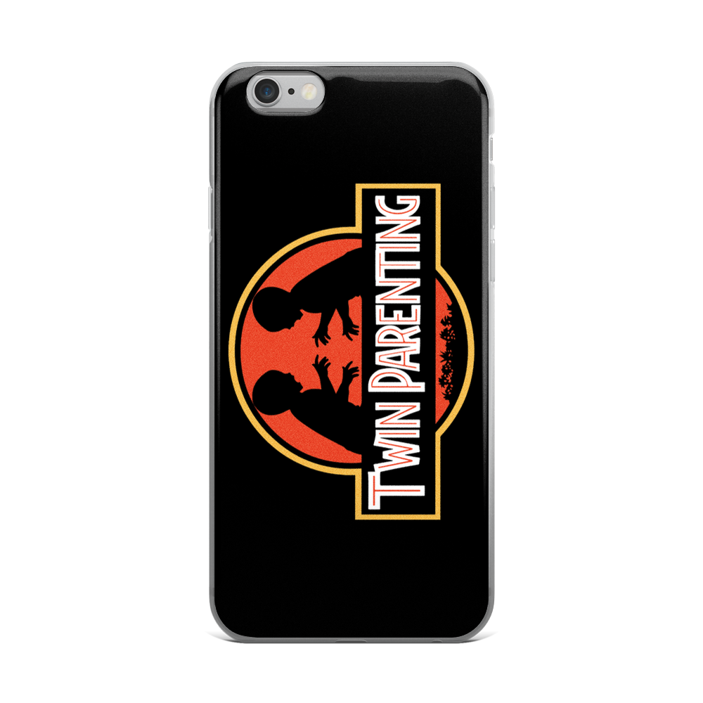 Twin Parenting Jurassic Park Style iPhone Case