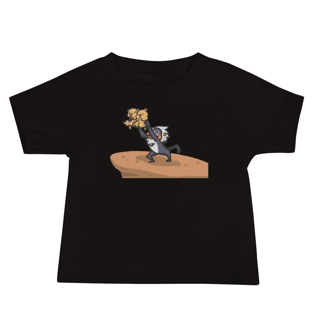 Lion King Style Presenting Twins T-Shirt (Infant/Black)