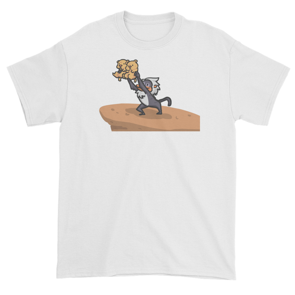 Lion King Style Presenting Twins T-Shirt in White