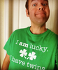 I am lucky. I have twins. Dad shirt