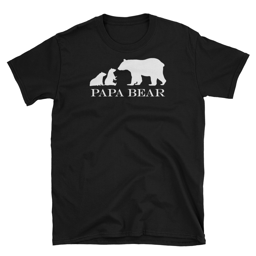 Twin Papa Bear T-Shirt Design (Black)