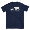 Twin Papa Bear T-Shirt (Navy)