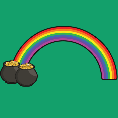 Twin Pots of Gold at the End of the Rainbow T-Shirt