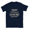Twins? Oh, Where Did This Second Baby Come From? Navy T-Shirt