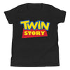 Twin Story (Toy Story Parody Shirt) for Kids in Black