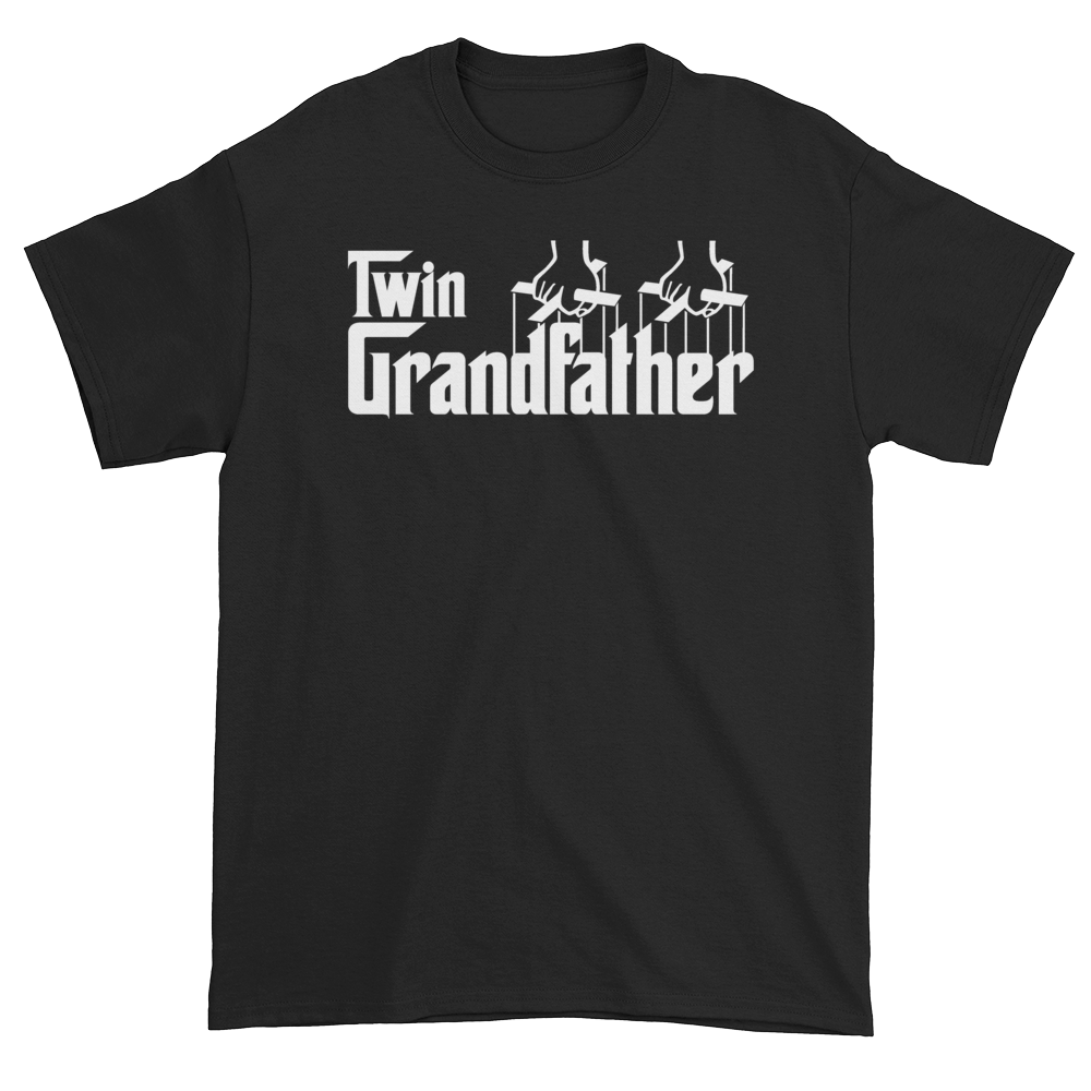 Twin Grandfather (Godfather Style) Black T-Shirt