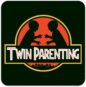 Jurassic Park Style Twin Parenting Sticker