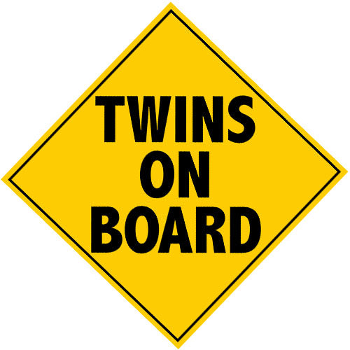 Twins On Board Magnet (Perfect for your Van/Car/SUV)