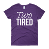 Two Tired Twin Mama T-Shirt Purple