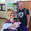 Father of twins going home with newborn twins
