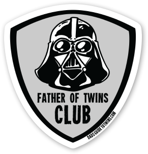 Father of Twins Club Sticker