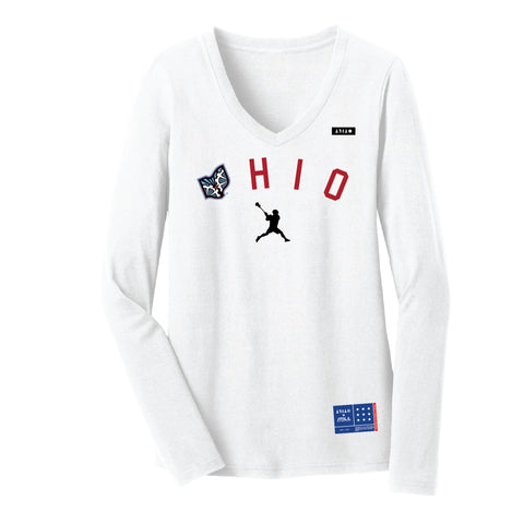 Tilt Womens Ohio Lacrosse Long Sleeved T-Shirt