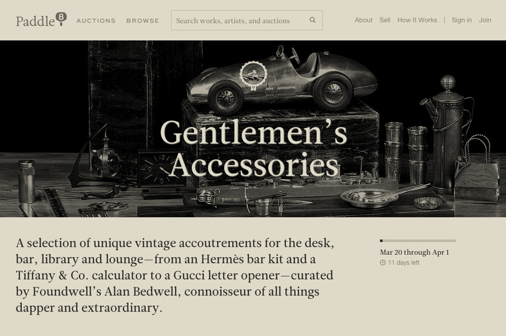 Paddle 8 Gentlemen's Accessories