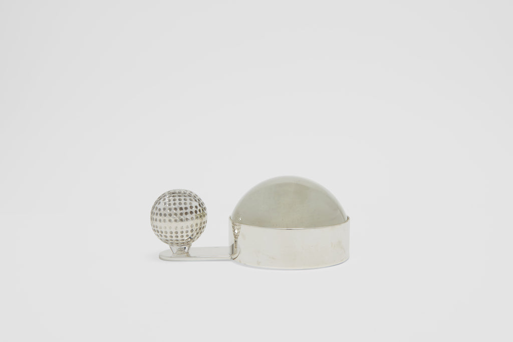 Hermès Golf Ball Paper Weight with Magnifying Glass