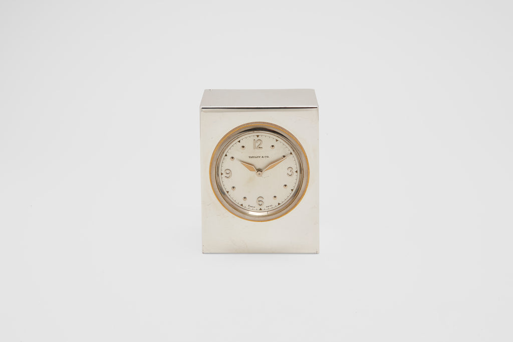 Tiffany & Co. Sterling Silver Desk Clock