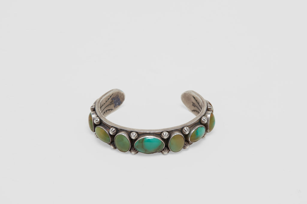 Heavy Silver Cuff with Turquoise