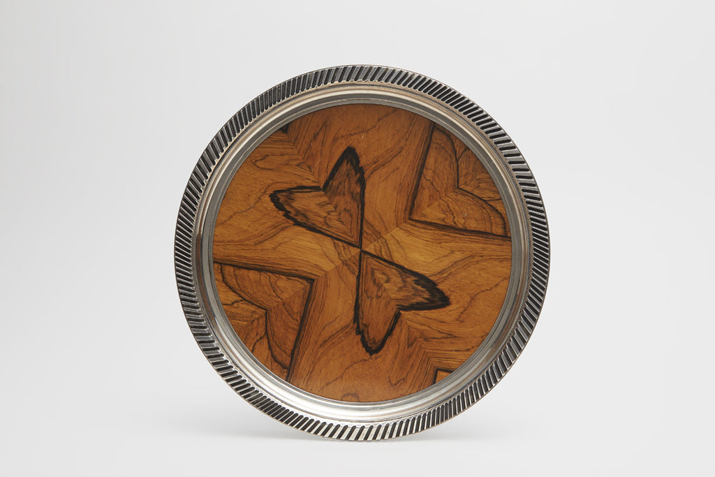 Elson Sterling Silver & Exotic Wood Tray