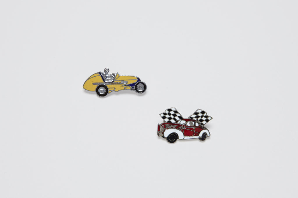 1930's American Enamel Street Racing Car Pin
