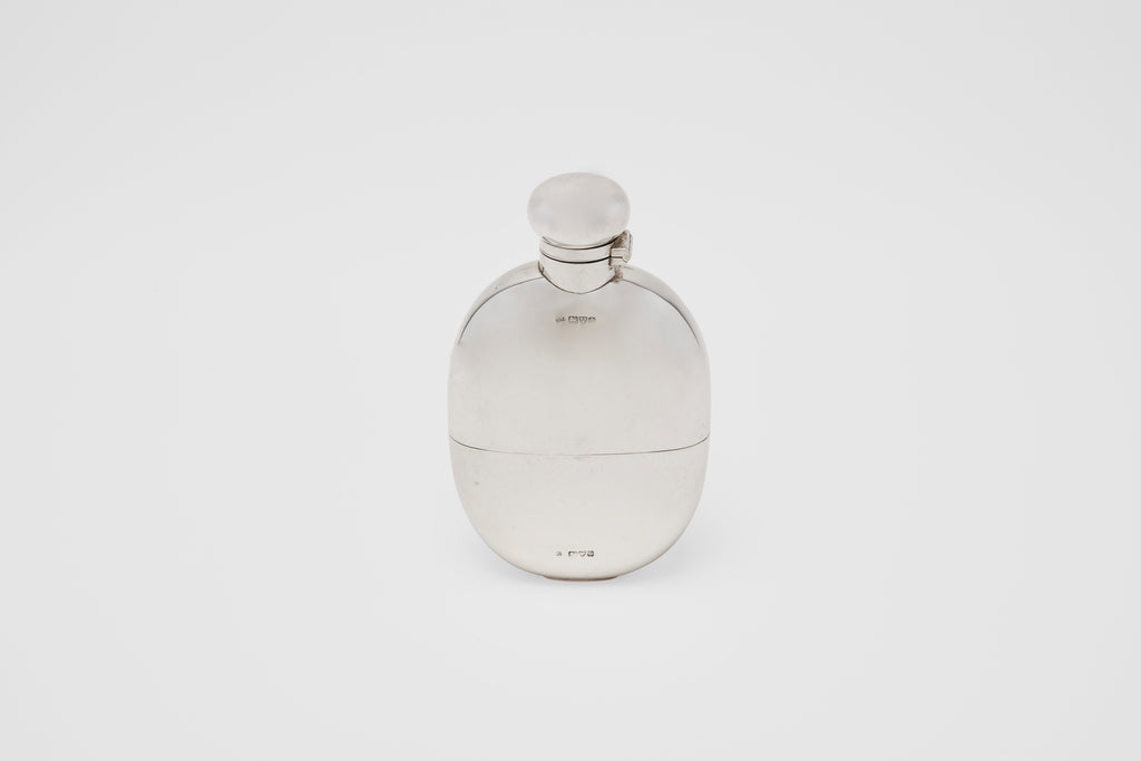 Curved Drinking Flask with Removable Cup
