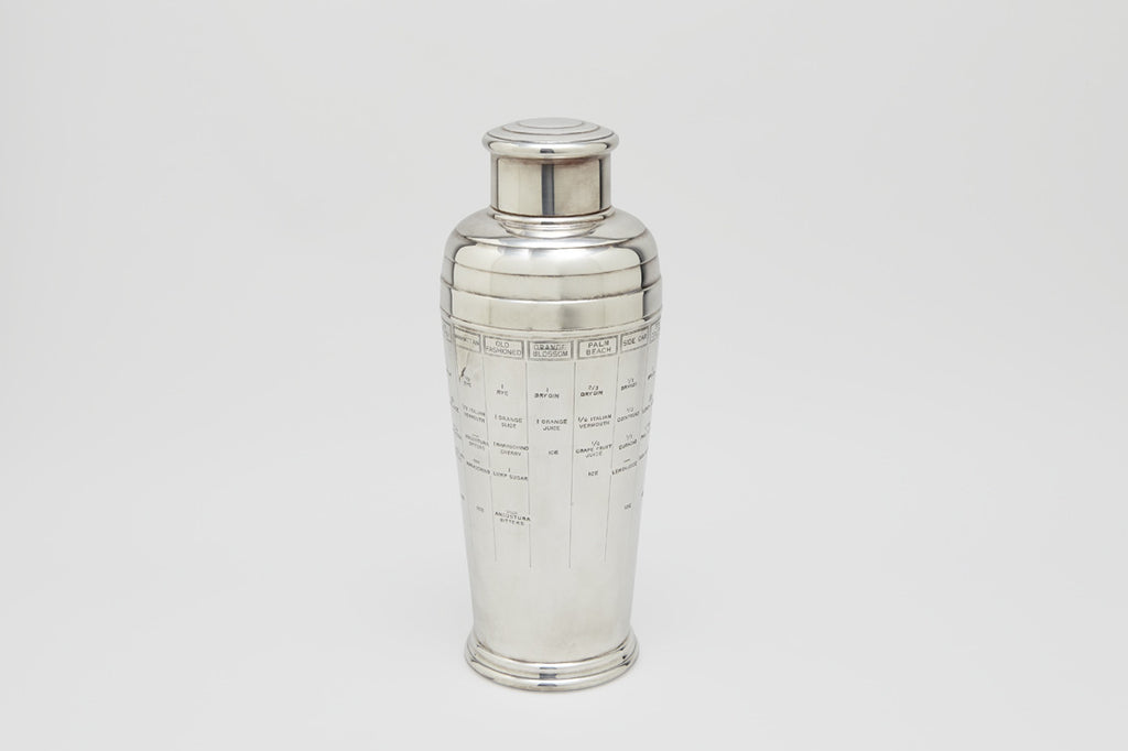 Art Deco Recipe Cocktail Shaker