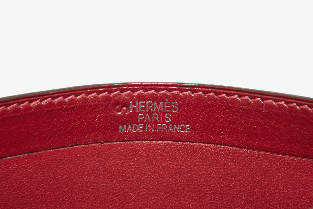 Herm s Calf Leather 'Tuxedo' Wallet