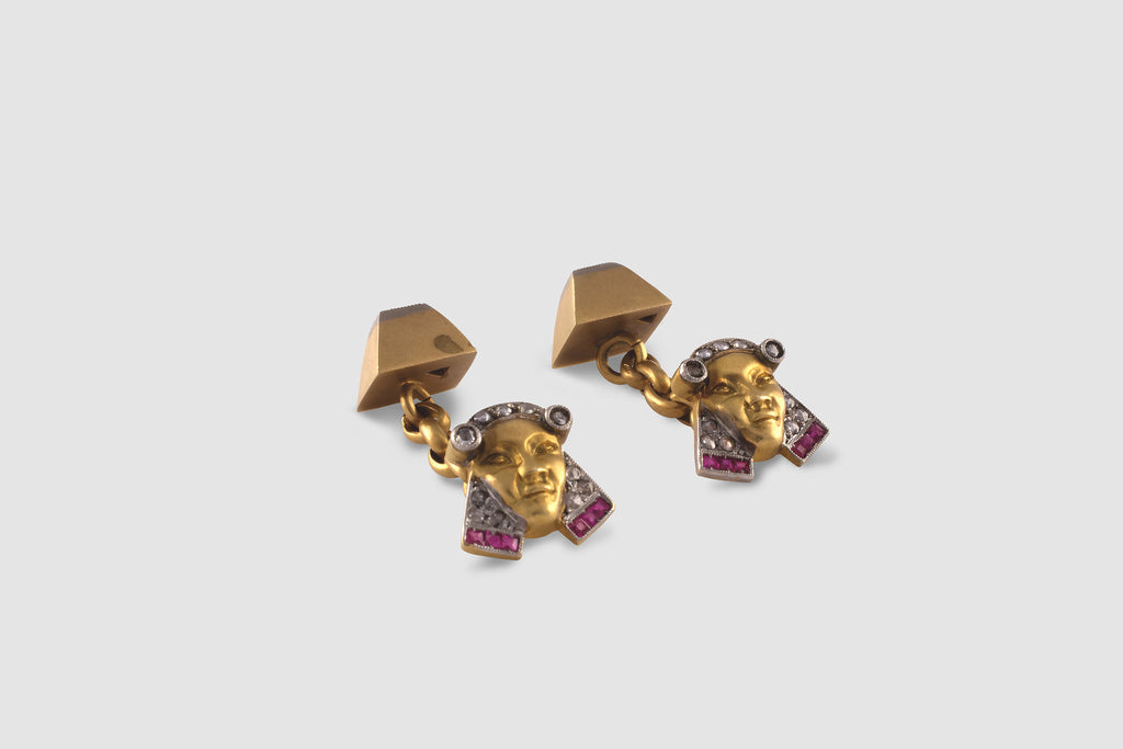 Art Deco Egyptian Revival Cufflinks