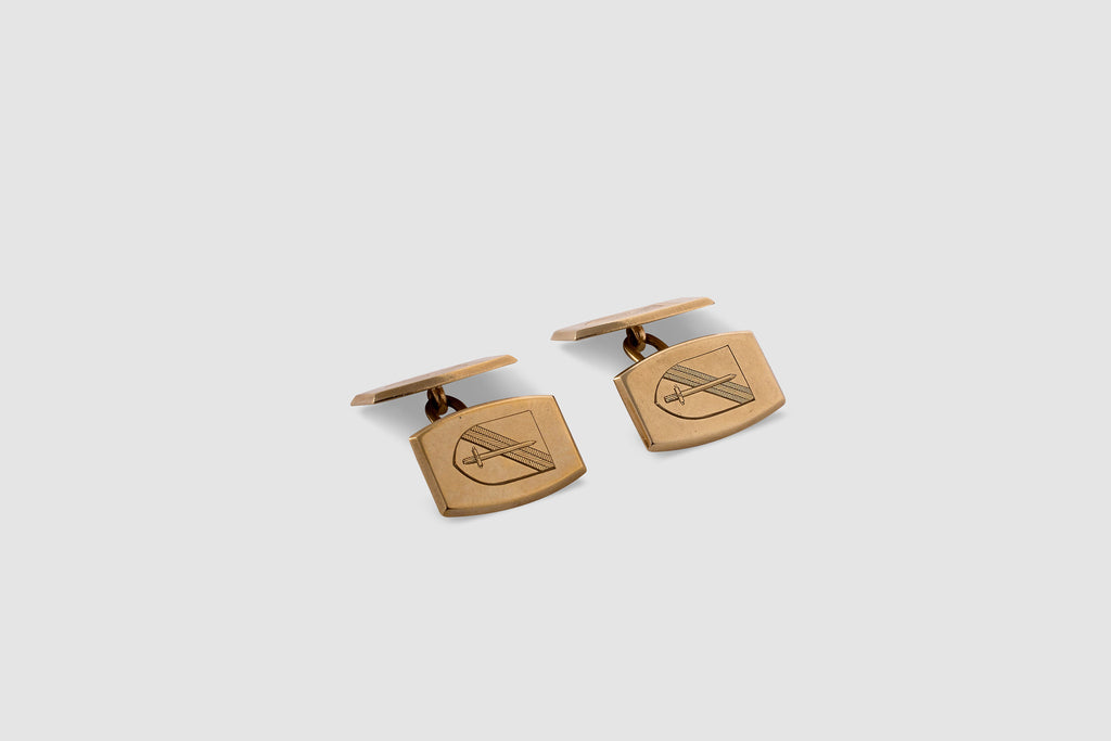 English Engraved Crest Cufflinks