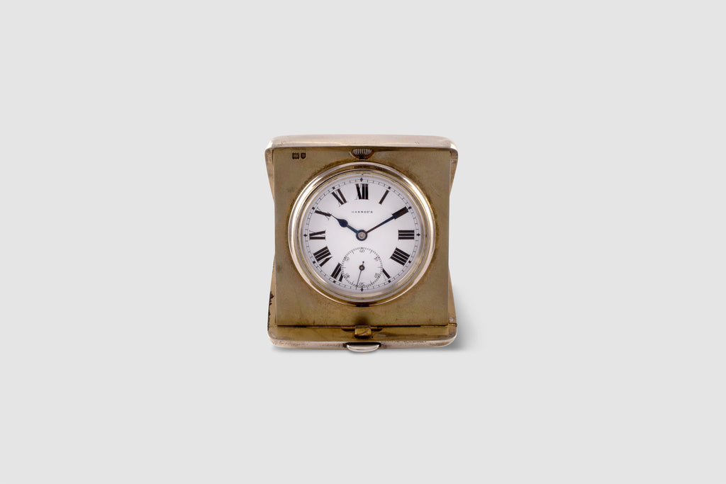 Sterling Silver Rolex Travel Clock