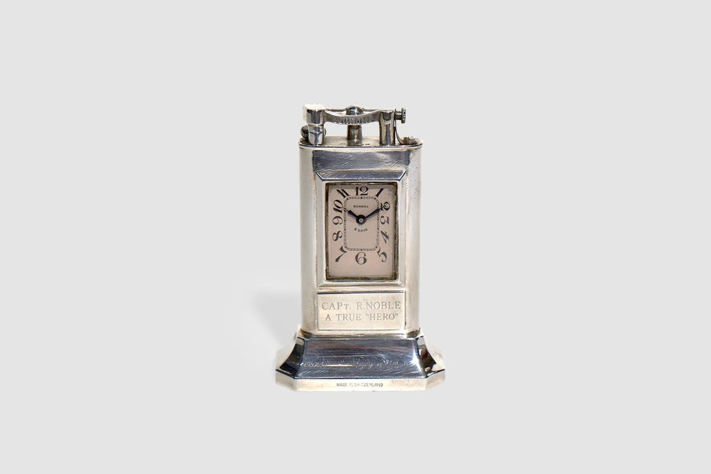 Dunhill Sterling 'Club' Clock on Base