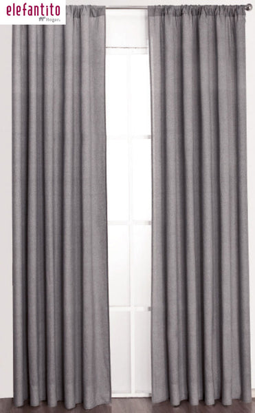 Cortinas gris elefantito hogar for Cortinas para salon gris