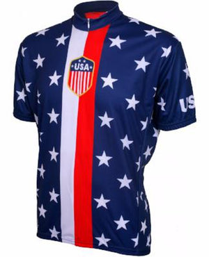 World Jerseys 1956 USA Mens Cycling Jersey
