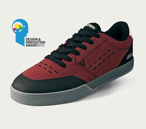 Afton Keegan MTB Cycling Shoes Black/Maroon/Grey