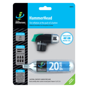 Genuine Innovations Hammerhead CO2 Bike Tire Inflator