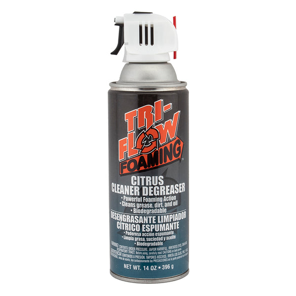 Tri Flow Foaming Citrus Degreaser Aerosol Spray 14oz