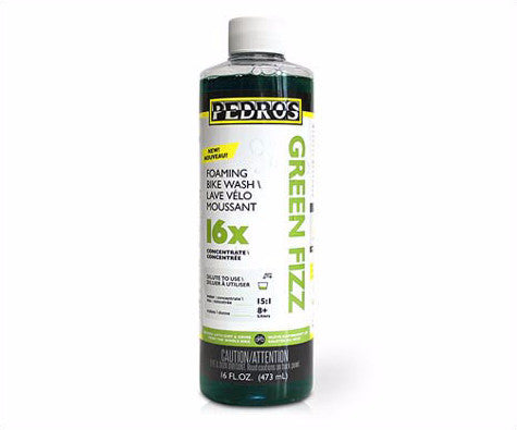 Pedro's Green Fizz 16X Concentrate Foaming Bike Wash 16oz