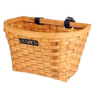 Evo E-Cargo Wood Classic Front Bike Basket
