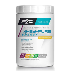F2C Whey Pure Energy Protein Powder 25 Servings