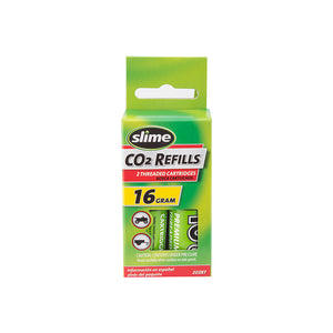 Slime Co2 Air Cartridge Refills 2-Pack Threaded 16g