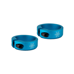 Supacaz Lock On Grip Clamps Blue Anodized Pair