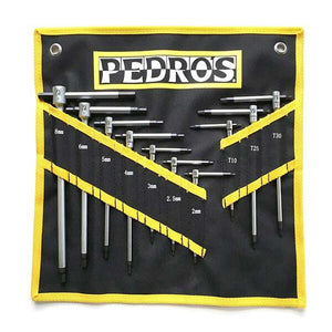Pedros Master T-Handle Tool Set w/Pouch 10 Piece