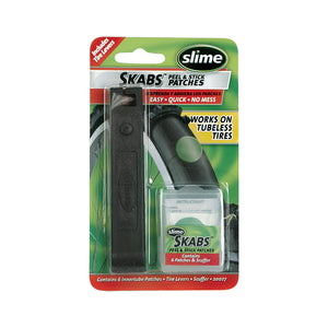 Slime Skabs Glueless Self Adhesive Patch Kit w/Tire Levers