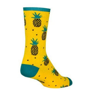 Sock Guy Pineapple Socks 6""