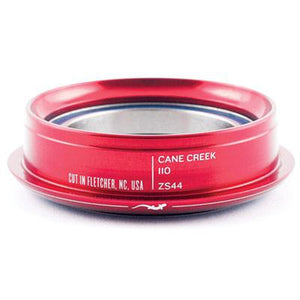 "Cane Creek Headset 110 Series ZS44/30 Bottom Lower Assebly 11/8"" Red"