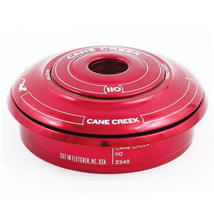 "Cane Creek Headset 110 Series ZS49/28.6 Top Upper Assembly 11/8"" Red"