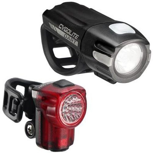 CygoLite Dart 210 USB Headlight & Hotshot Micro 30 Bike Tail Light Set